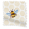 Bumblebees Yellow Roman Blind swatch image