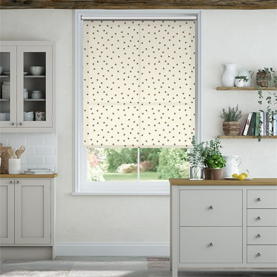Bumblebees Yellow Roller Blind
