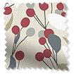 Bursting Berries Linen Cherry Pop Curtains slat image