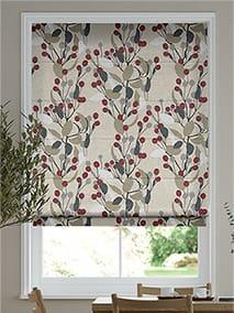Bursting Berries Linen Cherry Pop Roman Blind thumbnail image