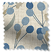 Bursting Berries Vintage Linen Blueberry Roman Blind sample image