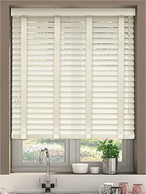 Buttermilk & Ivory Wooden Blind thumbnail image