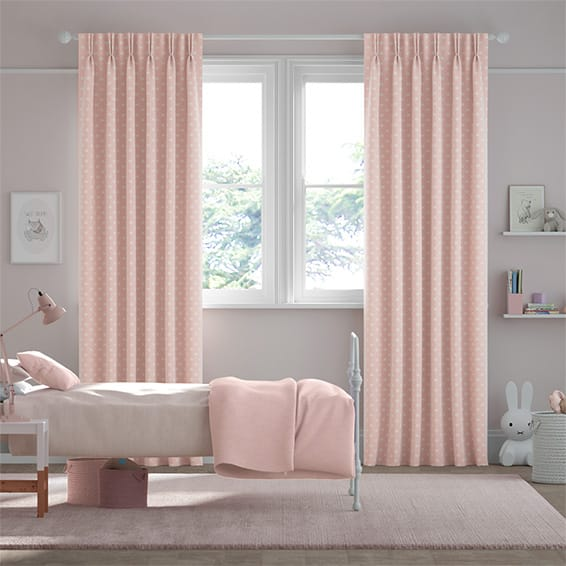 Button Spot Pink Curtains
