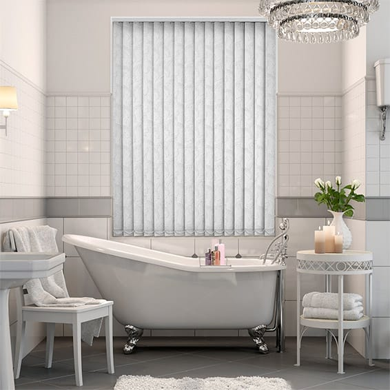 Calaf Blackout White Vertical Blind