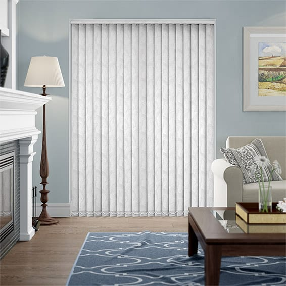 Calaf White Vertical Blind