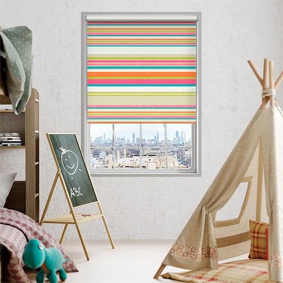 Calcutta Stripe Candyfloss Roller Blind