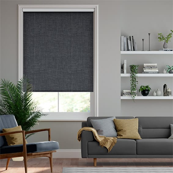 Canali Blackout Charcoal Grey  Roller Blind