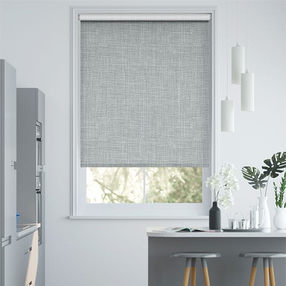 Canali Blackout Silver Grey Roller Blind