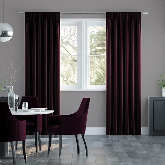 Canterbury Velvet Mulberry Curtains