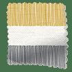 Cardigan Stripe Flax Grey Curtains slat image