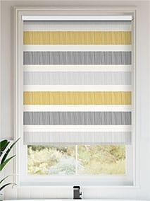 Cardigan Stripe Flax Grey Roller Blind thumbnail image