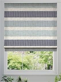 Cardigan Stripe Linen Blue Horizon Roman Blind thumbnail image
