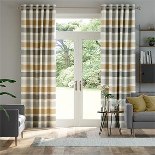 Cardigan Stripe Linen Flax Grey thumbnail image