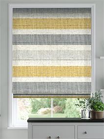 Cardigan Stripe Linen Flax Grey Roman Blind thumbnail image