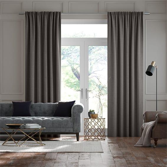 Cavendish Grey Taupe Curtains