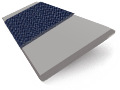 Cedar Grey & Navy Wooden Blind - 50mm Slat sample image