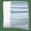 Splash Blackout Ceramic Stripe Med Blue Roller Blind slat image