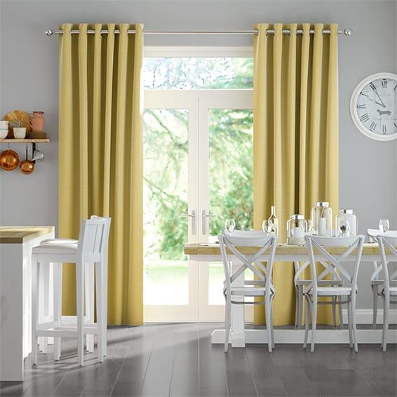Chalfont Mustard Curtains