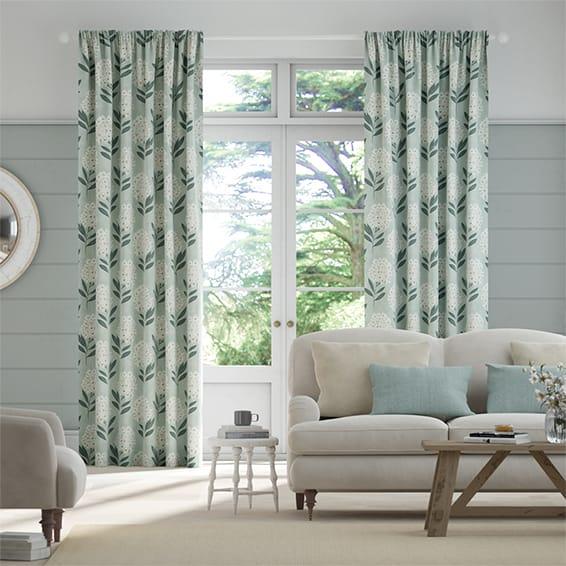 Charleston Powder Blue Curtains