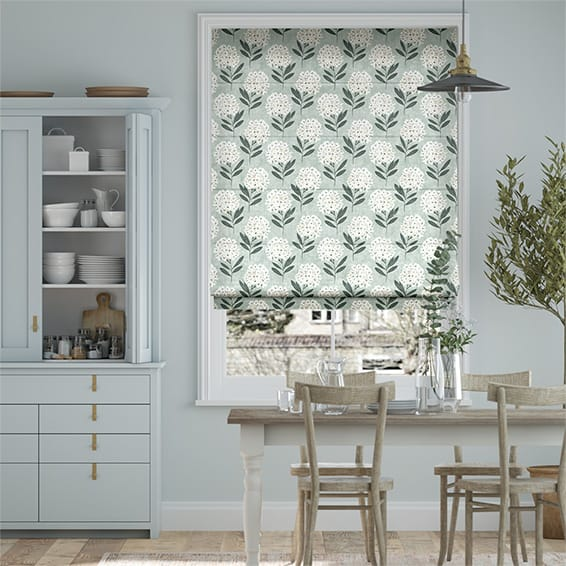 Charleston Powder Blue Roman Blind