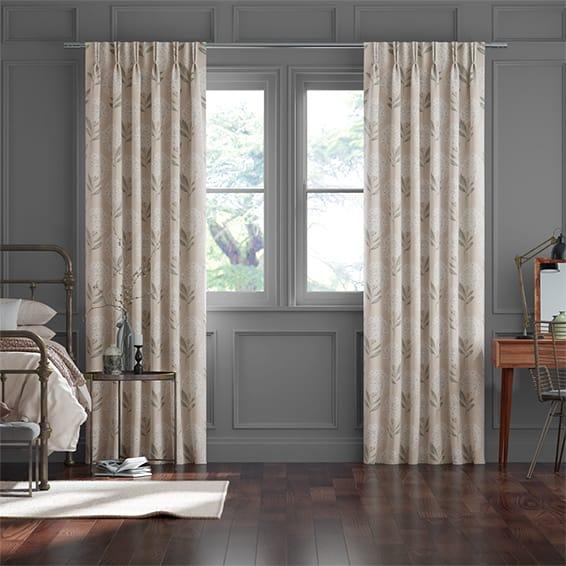 Charleston Rose Ash Curtains