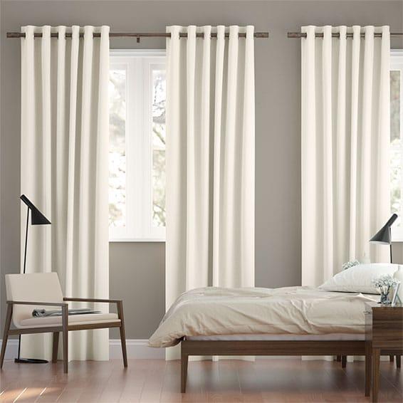 Chenille Cotton White Curtains
