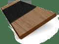 Chestnut & Jet Faux Wood Blind - 50mm Slat sample image