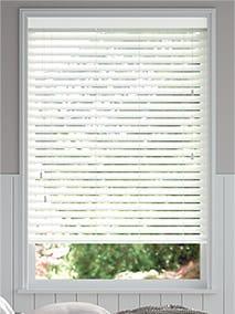 Chiffon White Wooden Blind thumbnail image