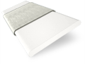 Chiffon White and Chic Grey Wooden Blind - 50mm Slat slat image
