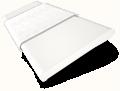 Chiffon White and Glacial White Wooden Blind - 50mm Slat slat image