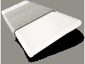 Chiffon White and Elephant Grey Wooden Blind - 50mm Slat slat image