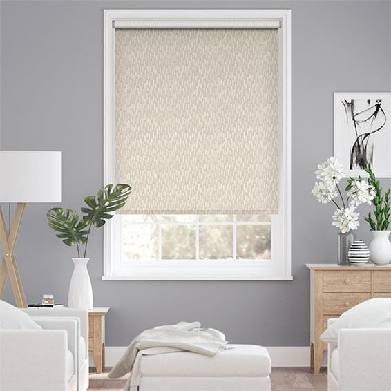 Choices Alcyone White Gold Roller Blind