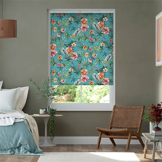 Choices Bella Heron Turquoise Roller Blind