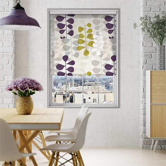 Choices Blooming Meadow Linen Amethyst Roller Blind