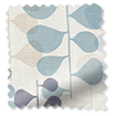 Choices Blooming Meadow Linen Blue Roller Blind sample image