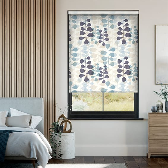 Choices Blooming Meadow Linen Blue Roller Blind
