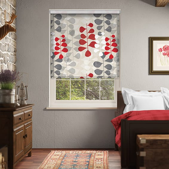 Choices Blooming Meadow Linen Ruby Roller Blind