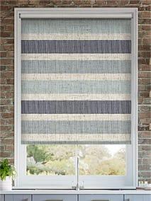 Choices Cardigan Stripe Linen Blue Horizon Roller Blind thumbnail image