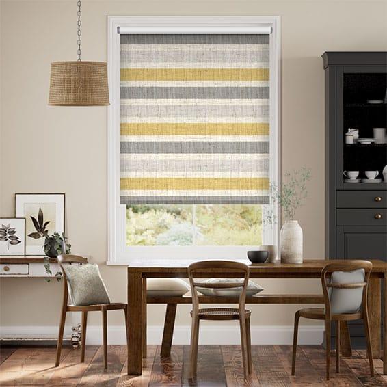 Choices Cardigan Stripe Linen Flax Grey Roller Blind