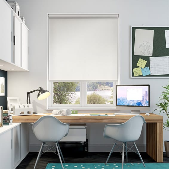 Choices Eminence Faux Silk Snowdrop Roller Blind