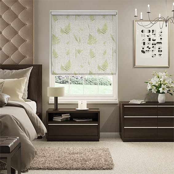 Choices Forest Fern Linen Foliage Roller Blind
