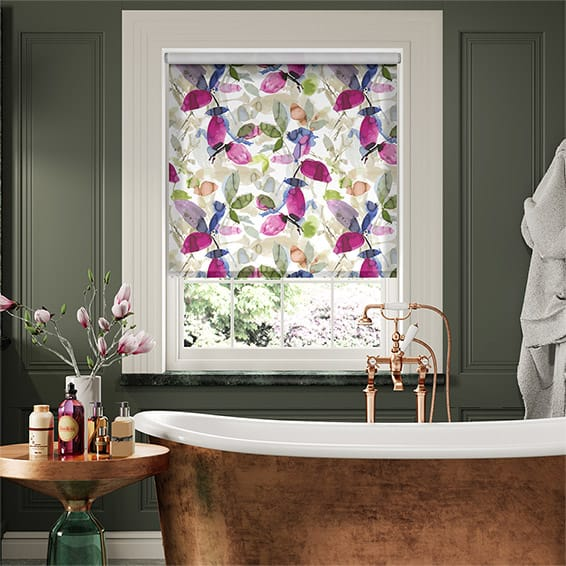 Choices Hadley Linen Blooming Violet Roller Blind
