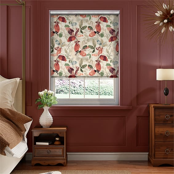 Choices Hadley Linen Vintage Papaya Roller Blind