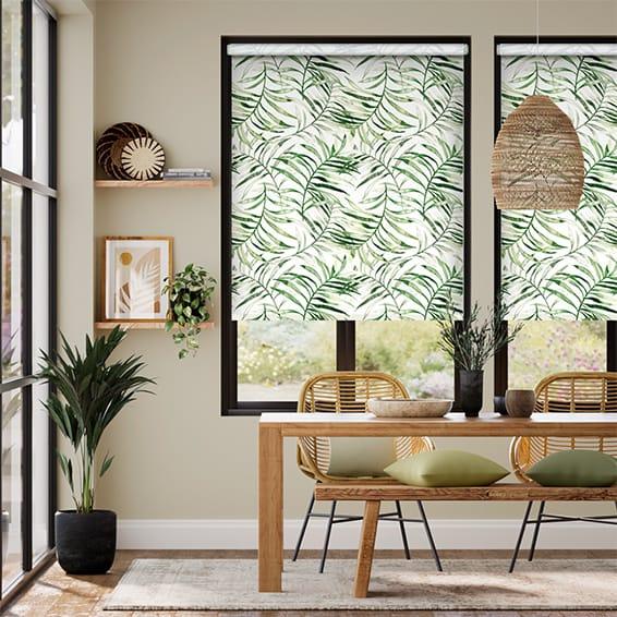 Choices Kentia Linen Leaf Roller Blind