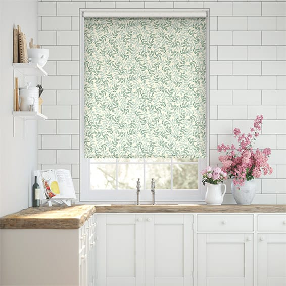 Choices Large Rosehip Leaf Duck Egg Roller Blind