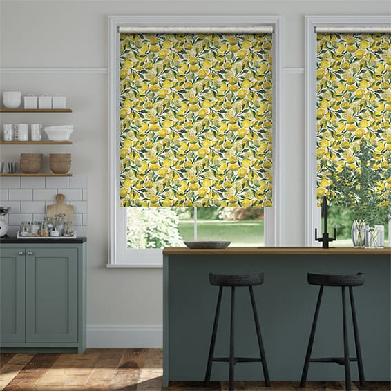 Choices Lemons Yellow Roller Blind