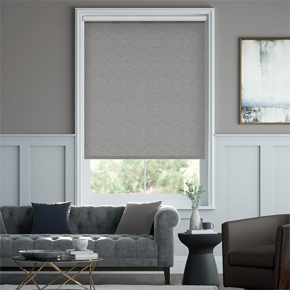 Choices Luxe Chenille Silver Roller Blind
