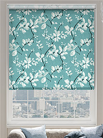 Choices Madelyn Linen Tropical Blue Roller Blind thumbnail image