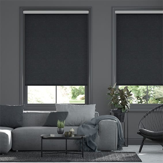 Choices Paleo Linen Rustic Blue  Roller Blind