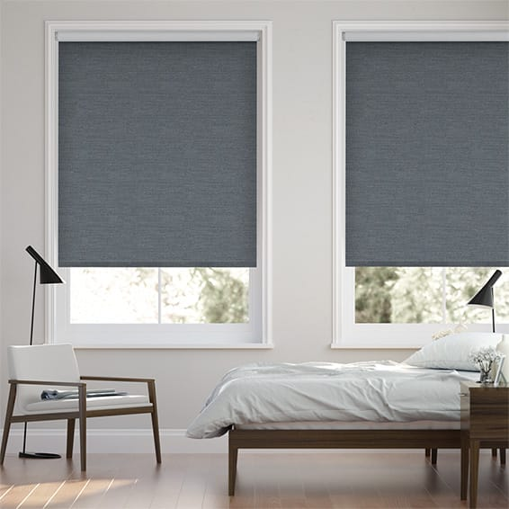 Choices Paleo Linen Smoky Blue  Roller Blind